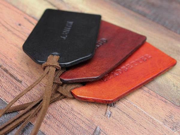 Custom Leather Travel Tag - Hide & Home - 5