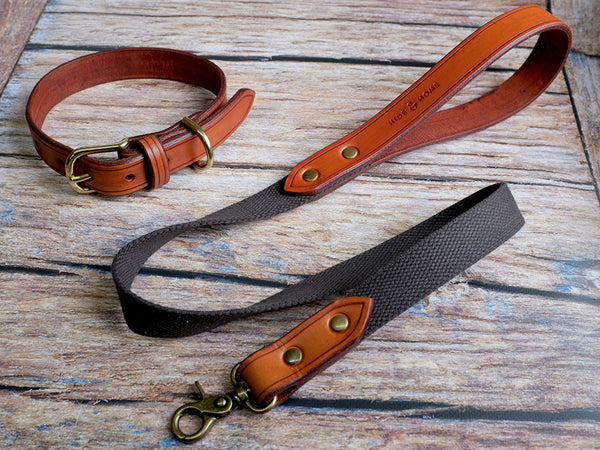 Leather Dog Collar - Tan