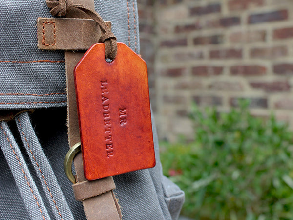 Personalised Leather Tags Set of Two - Hide & Home - 2