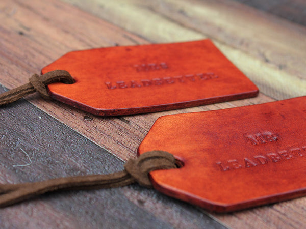 Personalised Leather Tags Set of Two - Hide & Home - 3