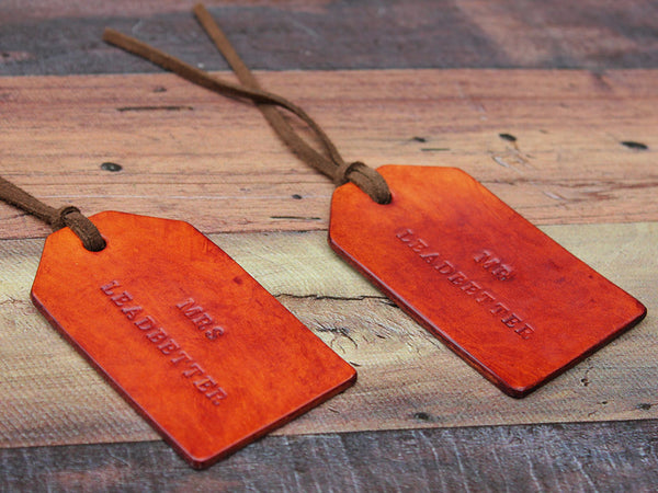 Personalised Leather Tags Set of Two - Hide & Home - 1