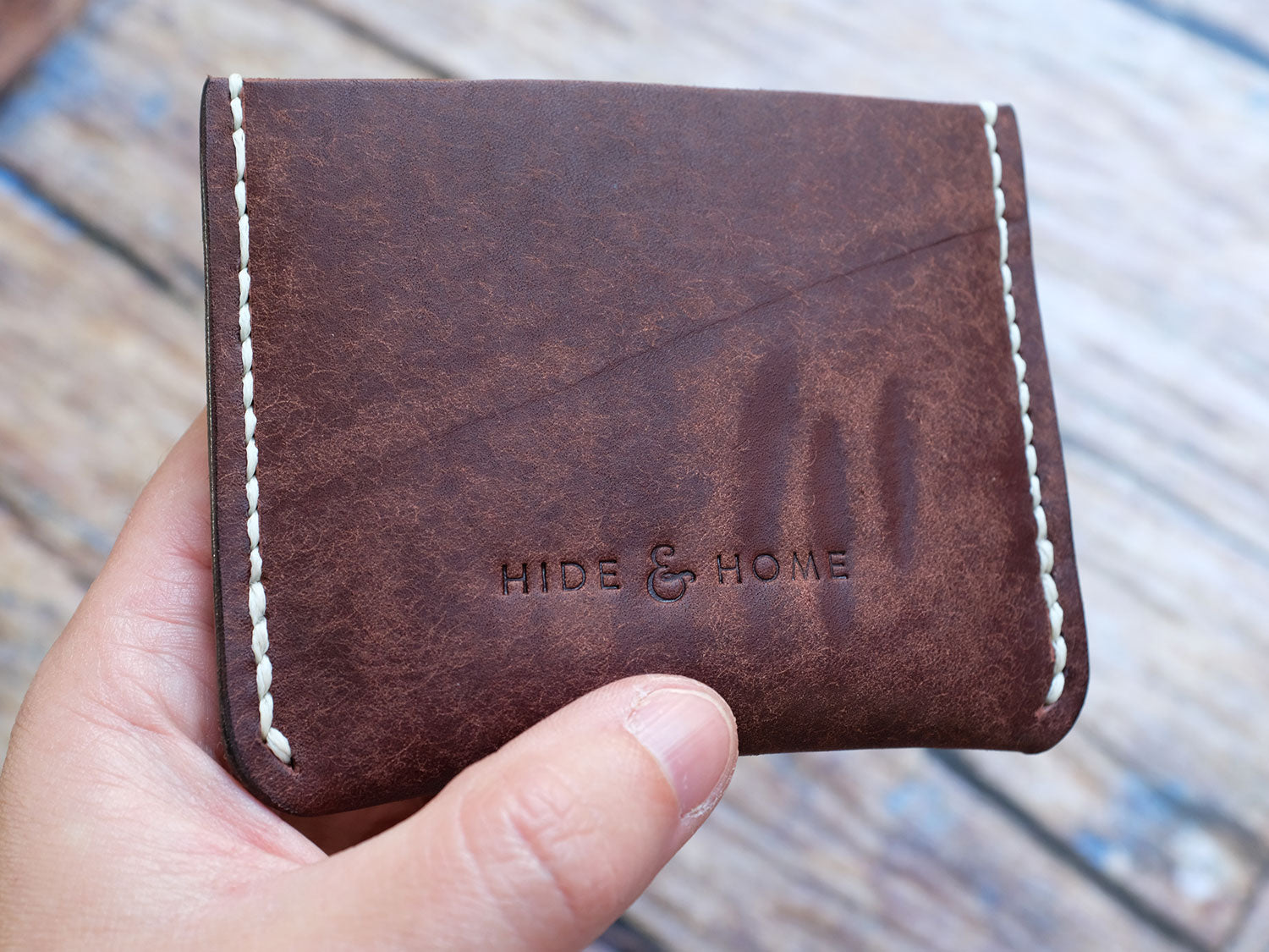 Italian Leather Pocket Wallet - Brown