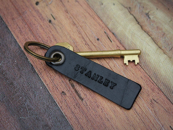 Personalised Leather Key Fob - Hide & Home - 5