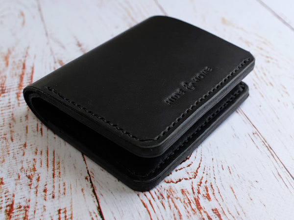 Horween Dublin Leather Bi-fold Wallet - Black