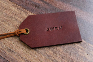 Personalised Leather Tag