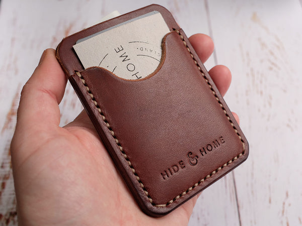 Italian Leather Pocket Card Holder - Brown