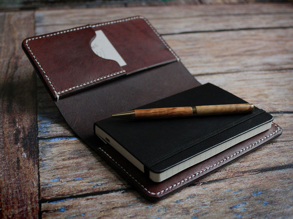 Leather Notebook Cover A6 - Brown