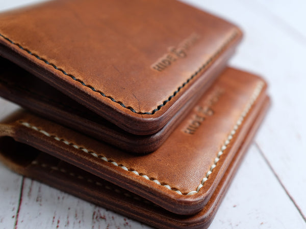 Horween Dublin Leather Bi-fold Wallet - Natural