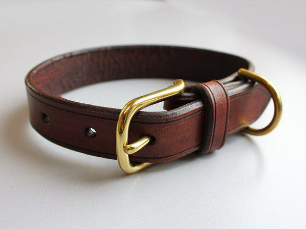 Leather Dog Collar - Brown