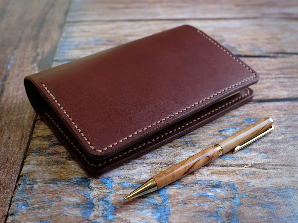 Italian Leather Notebook Cover A6 - Brown