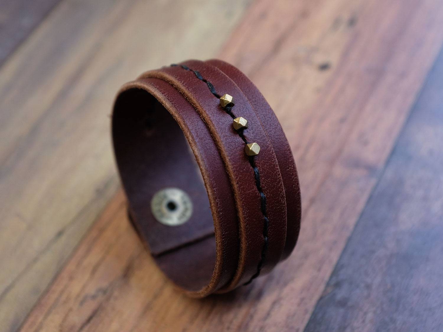 Embellished Leather Cuff