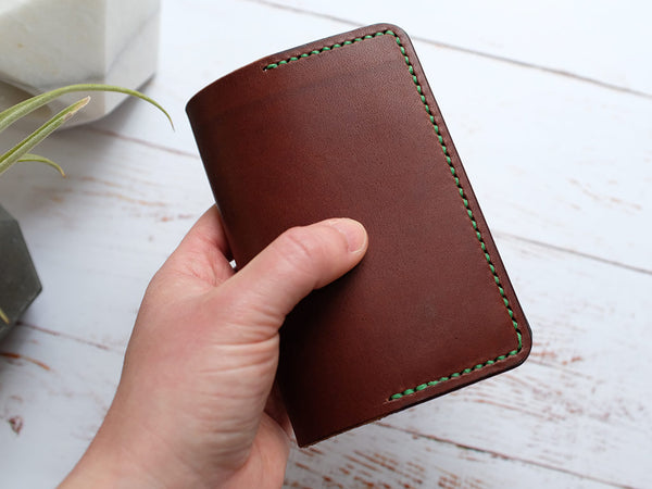 Italian Leather Notebook Cover A7 - Brown
