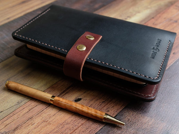 Italian Leather Notebook Cover A6 - Contrast