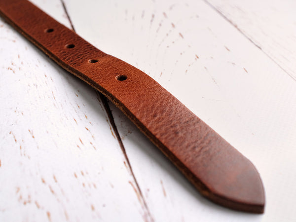 Leather Dog Collar - Deep Tan