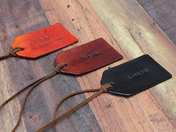 Custom Leather Travel Tag - Hide & Home - 4