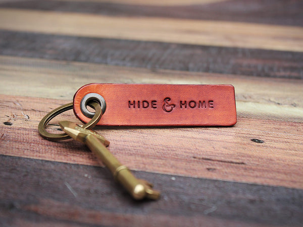 Personalised Leather Key Fob - Hide & Home - 3