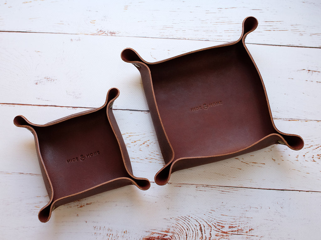 Leather Valet Tray & Desk Tidy
