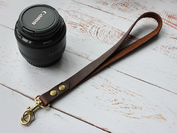 Handmade Leather Camera Hand Strap - Hide & Home - 3