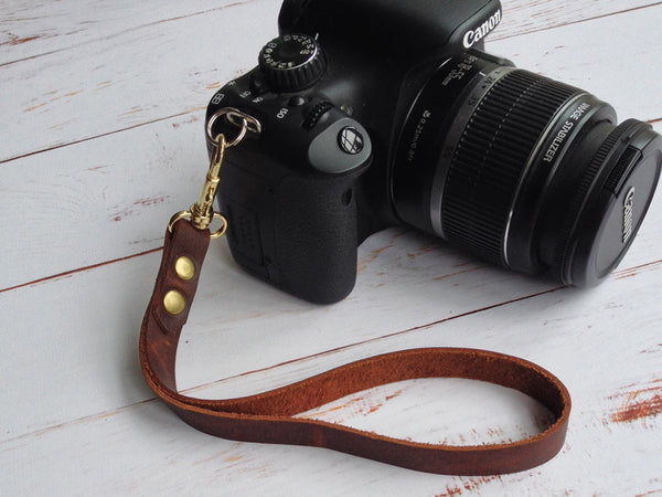 Handmade Leather Camera Hand Strap - Hide & Home - 1