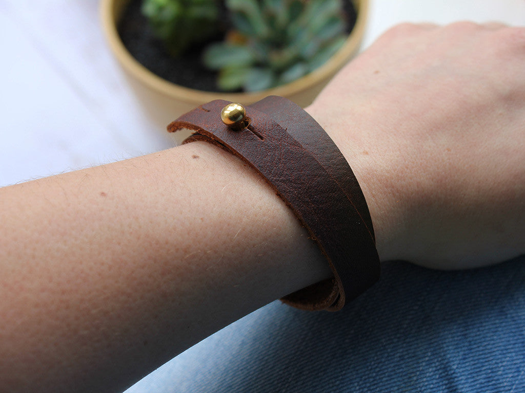 Leather Wrap Cuff - Hide & Home - 1