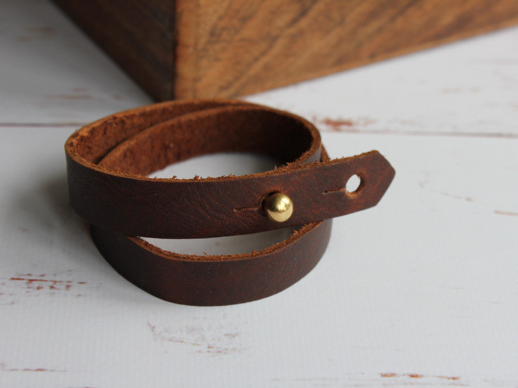 Leather Wrap Cuff - Hide & Home - 4