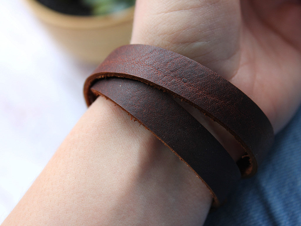 Leather Wrap Cuff - Hide & Home - 3