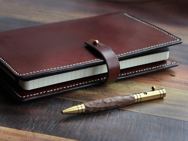A5 Leather Notebook Cover - Brown - Hide & Home - 2