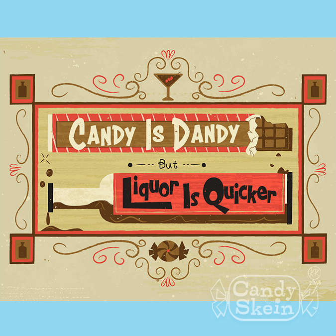 Art Print Candy Is Dandy Candy Skein