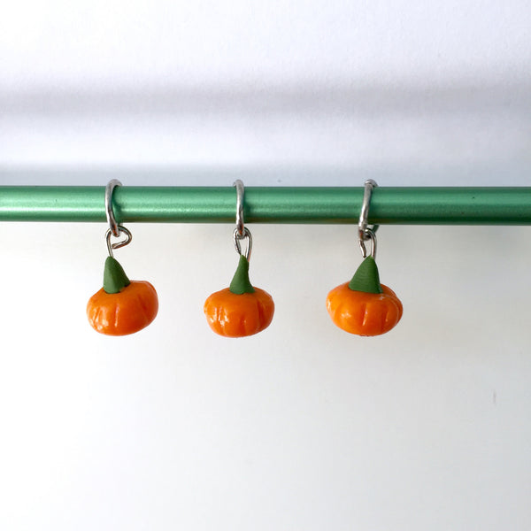 Jawbreaker Stitch Marker Set (Set of 3)- Mini Pumpkins
