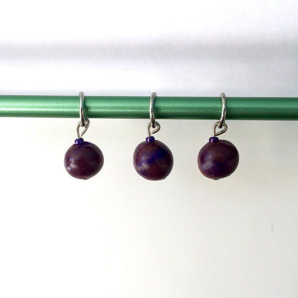 Jawbreaker Stitch Marker Set (Set of 3)- Purple/Orange
