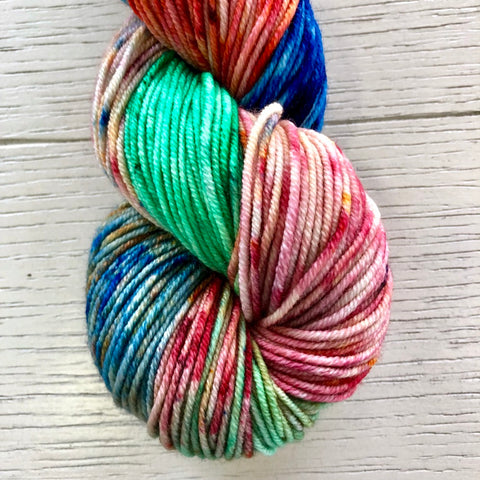 Monthly Colorway- Juicy Worsted December '19 Christmas Light Candy