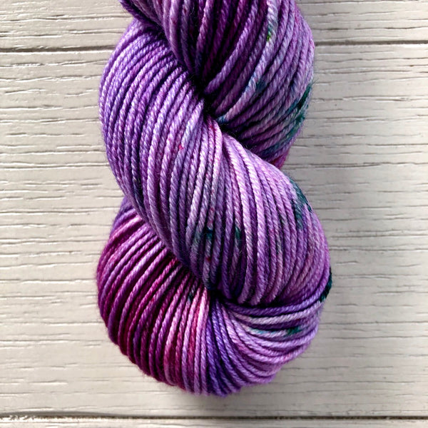 Monthly Colorway- Juicy Worsted November '20 Eggplant