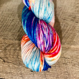 Monthly Colorway- Juicy Worsted August '18 Sour Gummy Worm