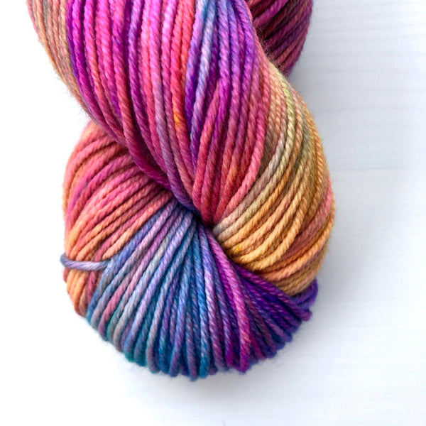 Monthly Colorway- Juicy Worsted June '19 Pride Popsicle
