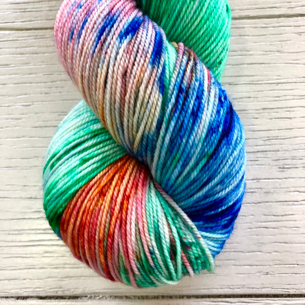 Monthly Colorway- Luscious Fingering December '19 Christmas Light Candy