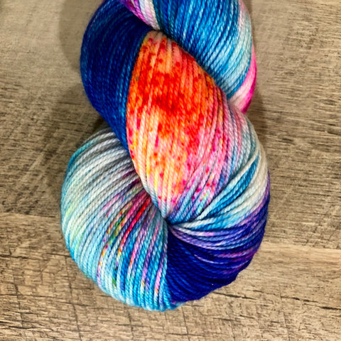 Monthly Colorway- Luscious Fingering August '18 Sour Gummy Worm
