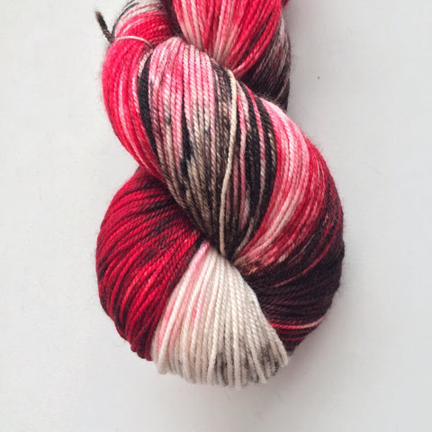 Monthly Colorway- Luscious Fingering March '17 Lush Licorice