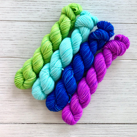 Rollin' with Summer Socks Collection: Shade Set (1/4 skeins)