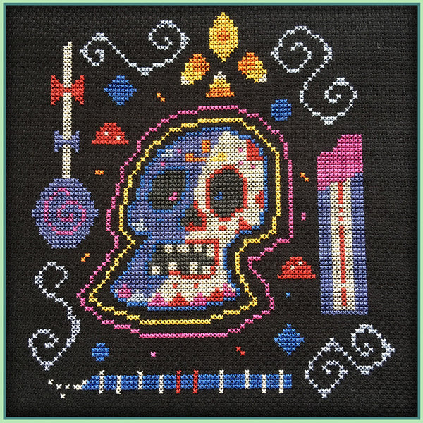 Candy Stitch Pattern- No. 3 Sugary Skull