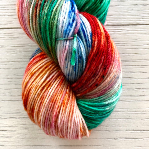 Monthly Colorway- Yummy Fingering December '19 Christmas Light Candy