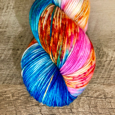 Monthly Colorway- Yummy Fingering August '18 Sour Gummy Worm