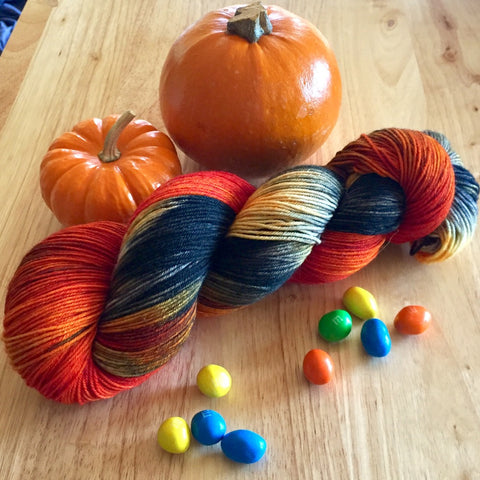 Yummy Fingering- Fall '17 colorway Halloween Taffy