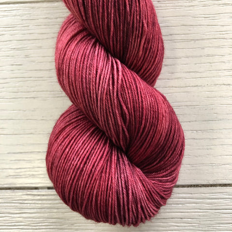 Monthly Colorway- Yummy Fingering February '21 Razzle Red