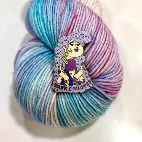 Enamel Pin- Yarn Goddess
