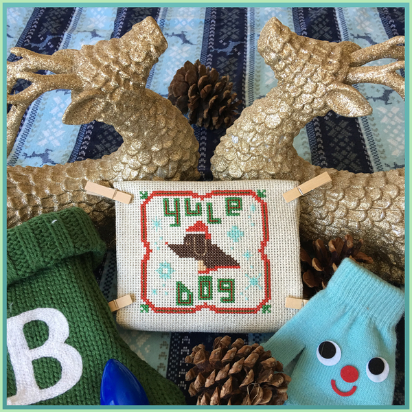 Candy Stitch Pattern- No. 6b Yule Dog