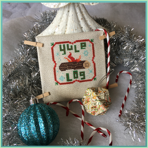Candy Stitch Pattern- No. 6c Yule Log