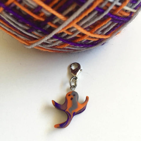 Monthly Stitch Marker- October '15 Groovy Ghost