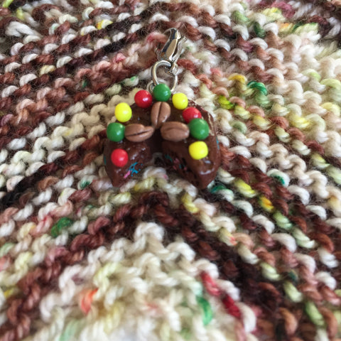 Monthly Stitch Marker- December '16 Fruitcake
