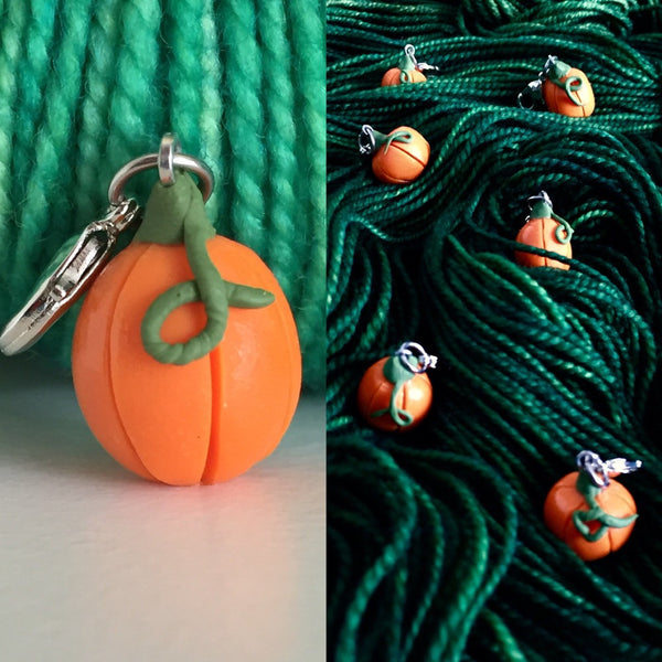 Single Stitch Marker- Pumpkin