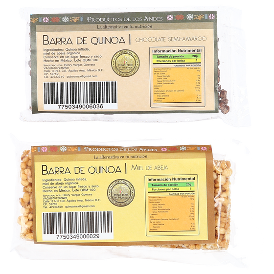 Kit de barras de quinoa